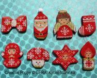 Gera! by Kyoko Maruoka - Mini Christmas Ornaments (cross stitch chart)