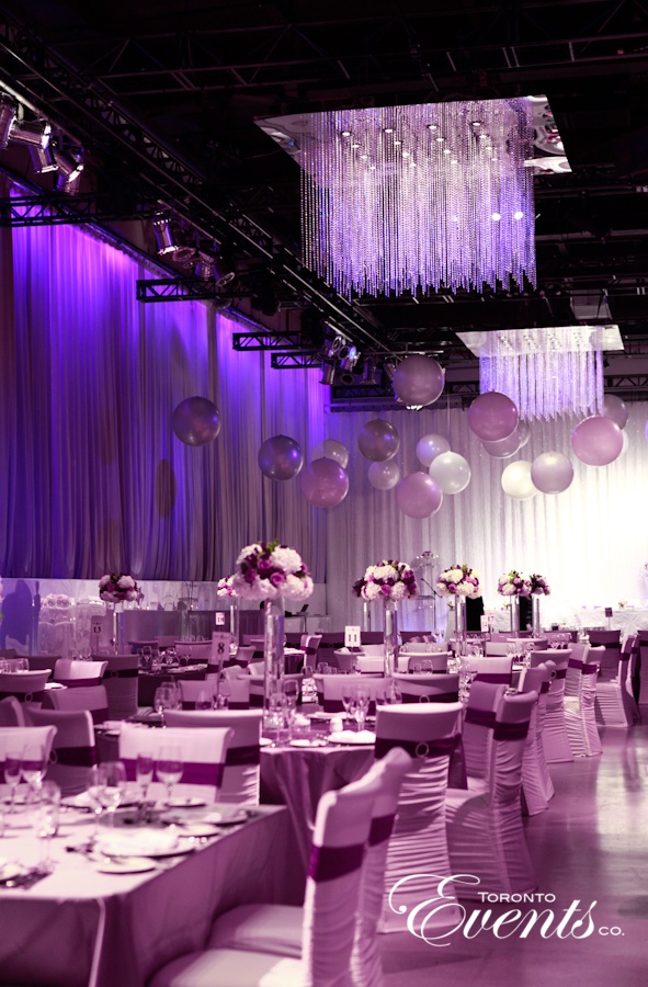 Purple Contemporary Wedding by Toronto Events Co.