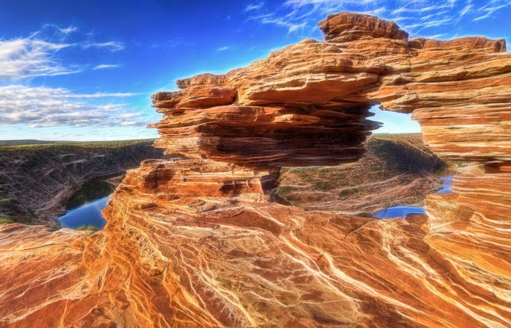 Artistic rendition of Natures Window, Kalbarri, Western Australia