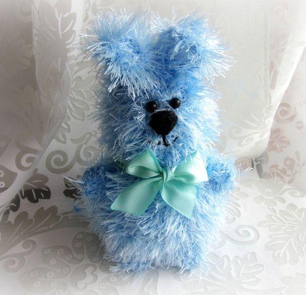 Peluches - Coniglio giocattolo uncinetto, amigurumi - un prodotto unico di CrochetItaly su DaWanda