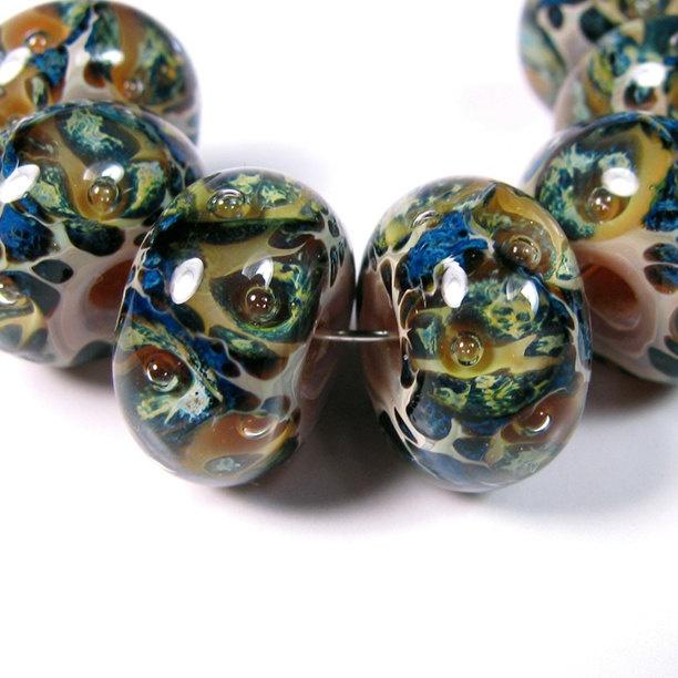 glass beads sea life bbglassart lampwork boro beads