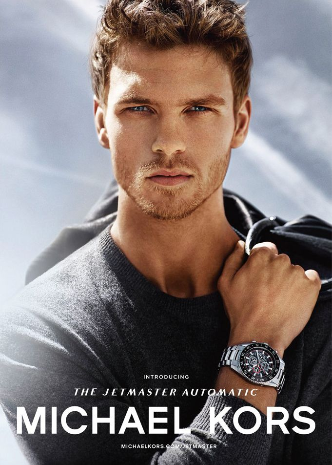 Benjamin Eidem Poses for Michael Kors Watches Campaign