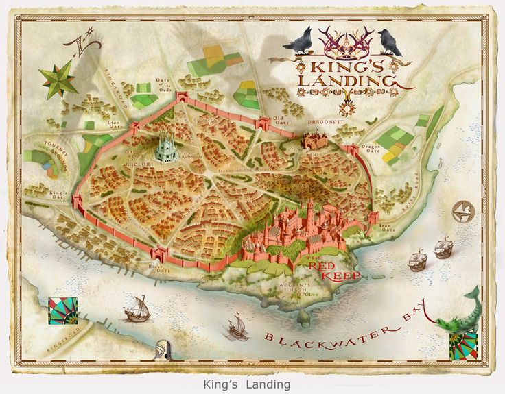 The World Of Ice And Fire: King's Landing map by Michael Gellatly