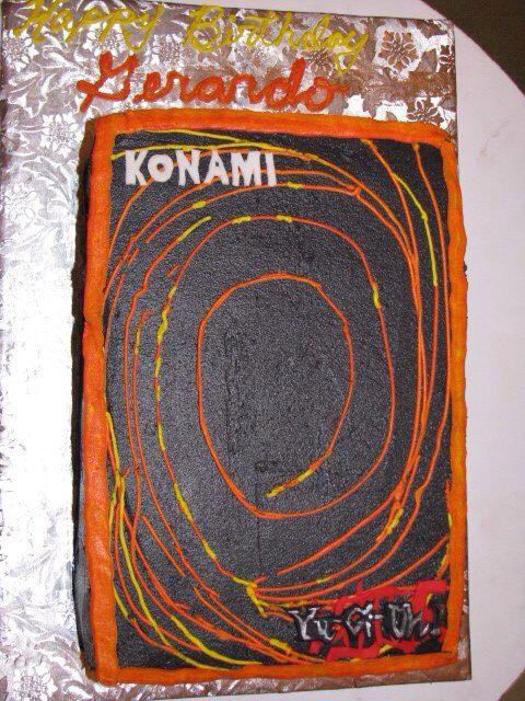 Yu Gi Oh Cake Konami Card Fun Cool Birthday Cake