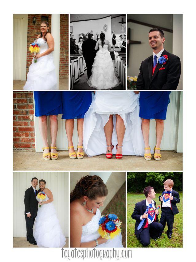 Superman themed wedding | Tulsa Wedding Photography | www.tcyatesphotography.com