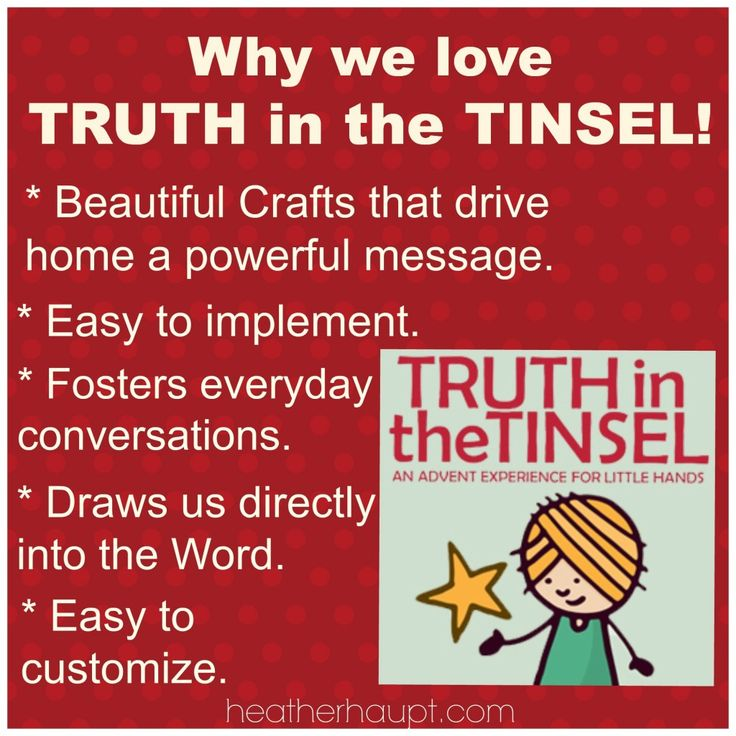 133 best merry truth in the tinsel images on pinterest christmas truth in the tinsel the perfect advent devotional for preschoolers up through mid elementary school fandeluxe Image collections