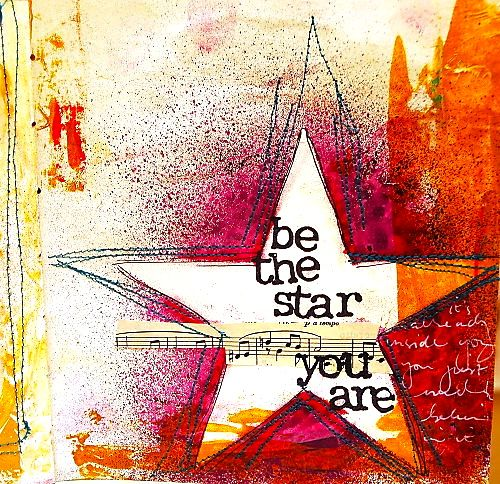 you are a star: Art Journaling - Dina Walkey