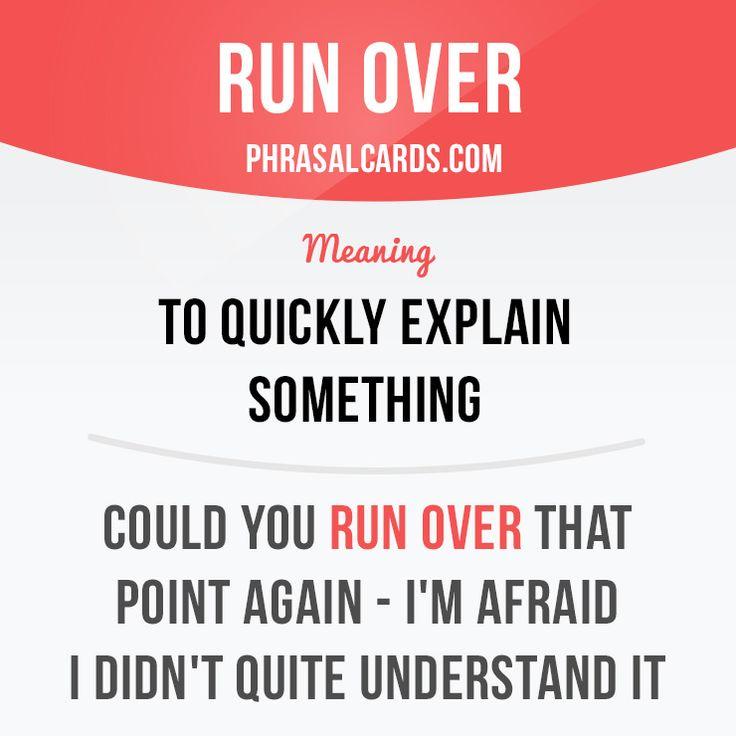 Run over #English