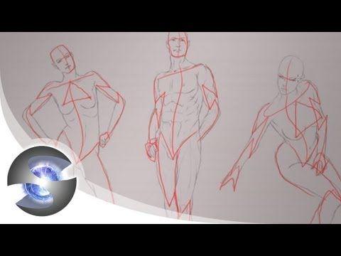 人体デッサンを安定させるアタリ線の描き方 | お絵描きホーホー論|絵の練習・上達方法