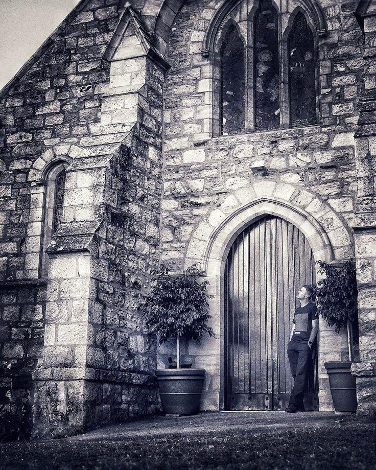 Serenity in a hidden churchyard... . #discoverbrisbane #lumixlife #blackandwhite #sandstone #vision