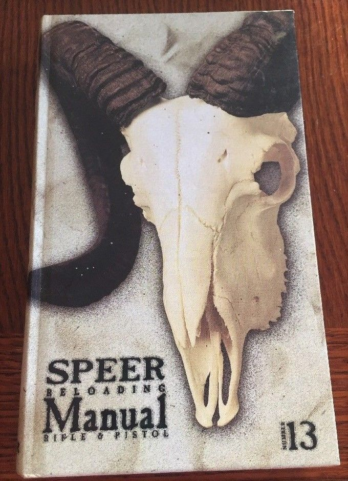 Speer Reloading Manual Rifle & Pistol Number 13 Hardback Blount 1998 Exc Cond
