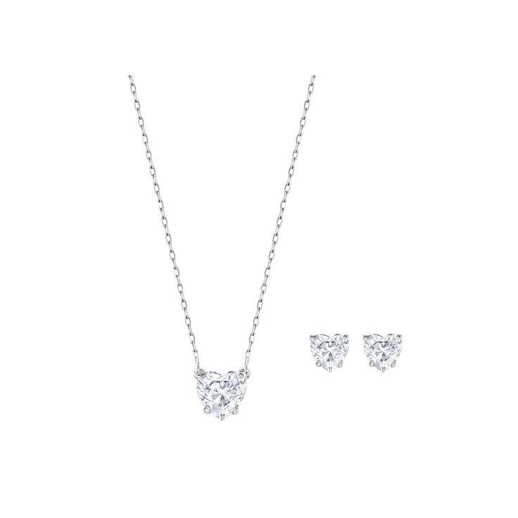 "Swarovski ""ATTRACT"" Set #Pendant #Earrings #Crystals #SpringSummer2016 #JewelleryDesigner #Swarovski #Jewelry #Heart #Love"