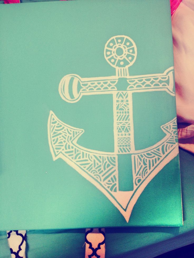Free-handed anchor canvas