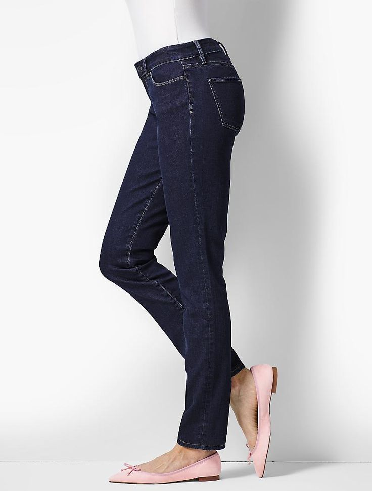 Our flattering Flawless Five-Pocket slim ankle in a beautiful dark wash.