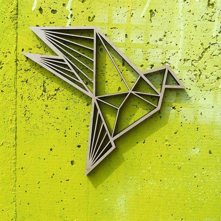 Vogel Origami NOGALLERY Holz Motiv