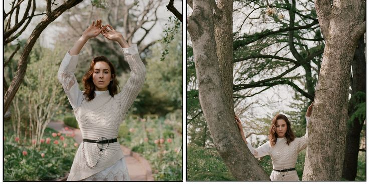 Photo by Alexander Saladrigas, styled by Caroline Grosso. Visual Editor: Biel Parklee. Hair by Lucas Wilson for Bumble and bumble, makeup by Min Min Ma at Honey Artists. Photography Assistants: Yoshi Park, Casanova Cabrera. Special thanks to Brooklyn Botanic Garden. for w magazine k Troian Bellisario