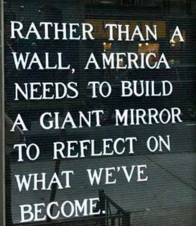 THIS needs to be pinned Over & Over Again. Some need to take a Long Look in the mirror at the Sheer Ugliness of what this Beautiful Nation has become at the hands of trump & Republicans.