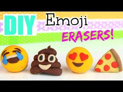 DIY Emoji Erasers!  Back to School 2015 - YouTube