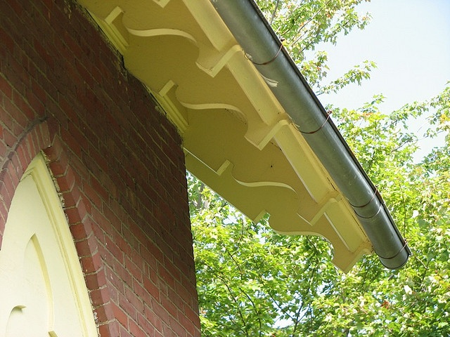Exterior Rafter Tails : New haven vt congregational church rafter