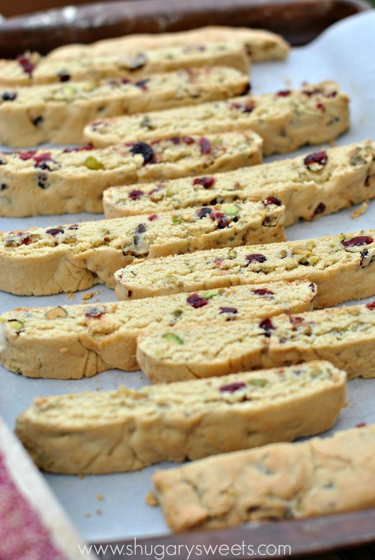 Cranberry pistachio biscotti recipe is easy to make and for Easy holiday baking recipes for gifts