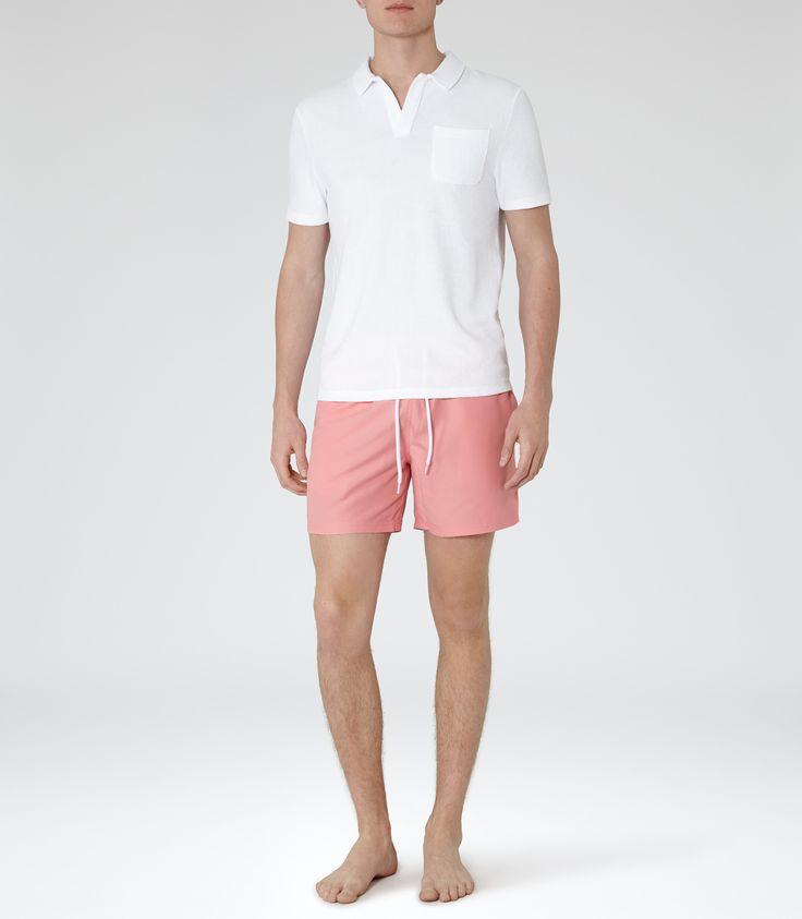 Reiss Thompson Men's Hot Pink Drawstring Swim Shorts