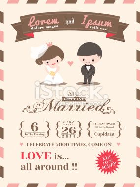 Wedding invitation card template stock vector art 26220894 - iStock