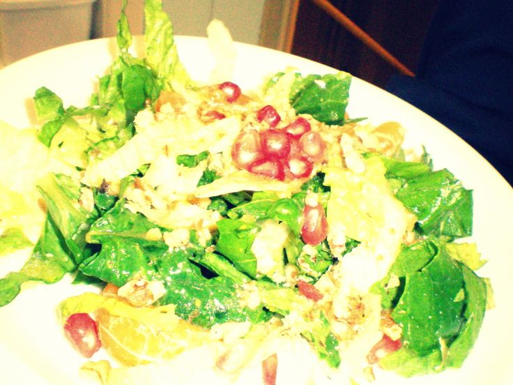 A fresh salad  dish with pomengrate & distaff   LUCY HOTEL