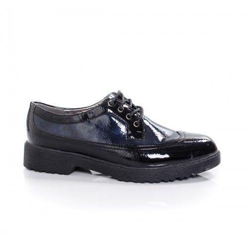 Promotie Pantofi dama Darila negri cu bleumarin casual