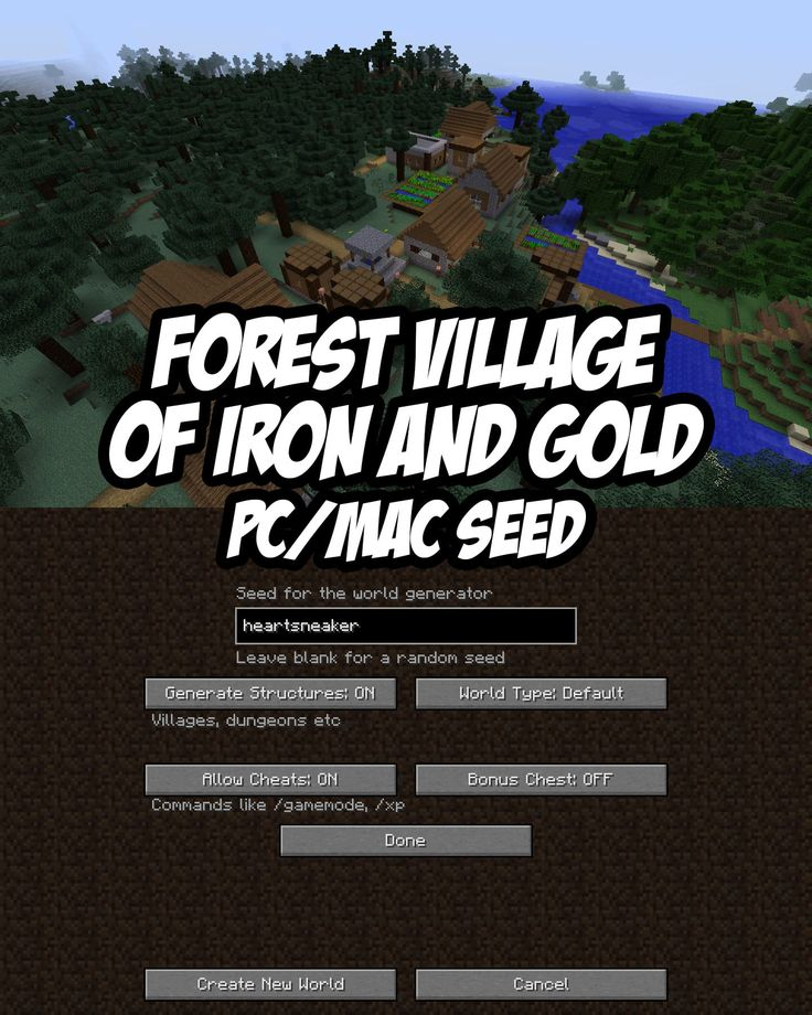 287 melhores imagens de minecraft no pinterest dicas minecraft pcmac seed heartsneaker this npc village has a handful of both iron and ccuart Gallery