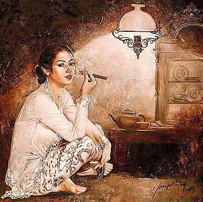 Josephine Linggar - Wanita Merokok Cerutu