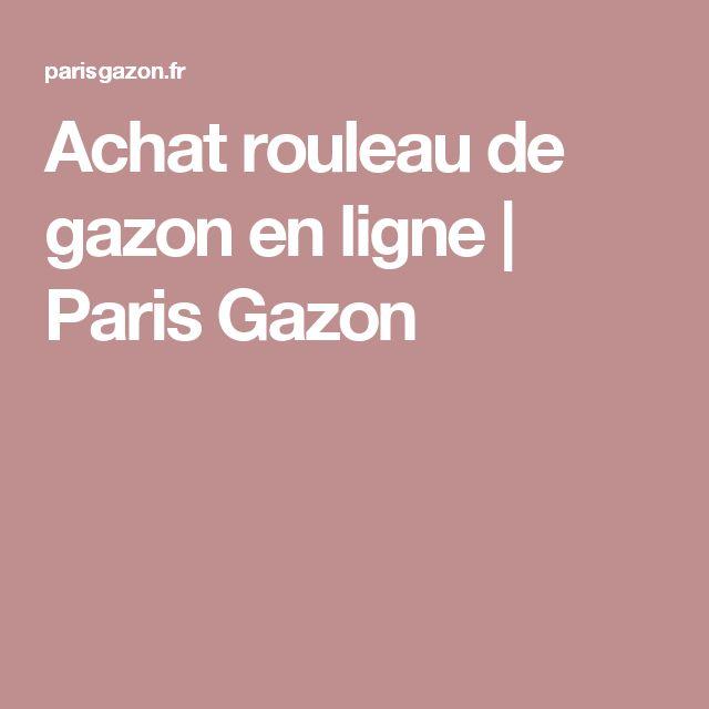 Achat rouleau de gazon en ligne | Paris Gazon