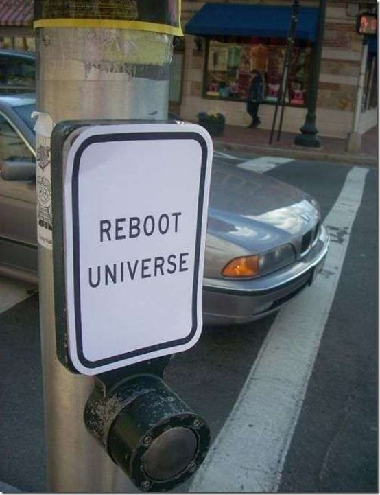 Hmmmmm. To reboot, or not to reboot . .