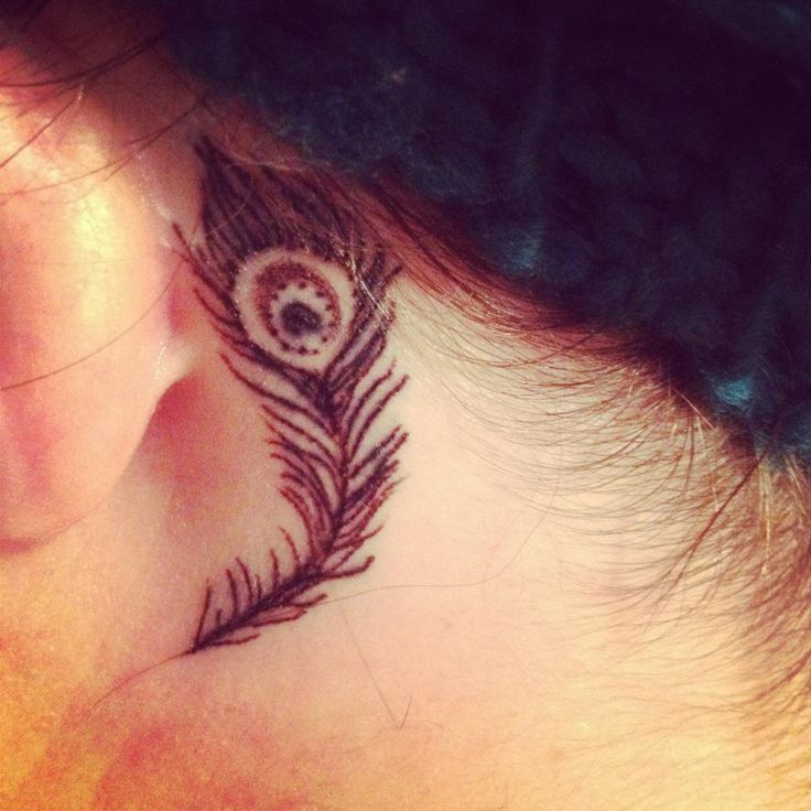 37 Ear Tattoos See Which Made Our 1: 17 Best Ideas About Feather Tattoo Ear On Pinterest