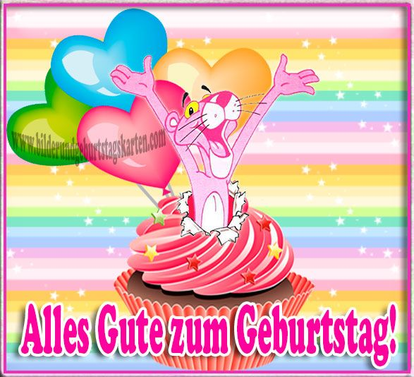 Alles Gute zum Geburtstag Pink Panther
