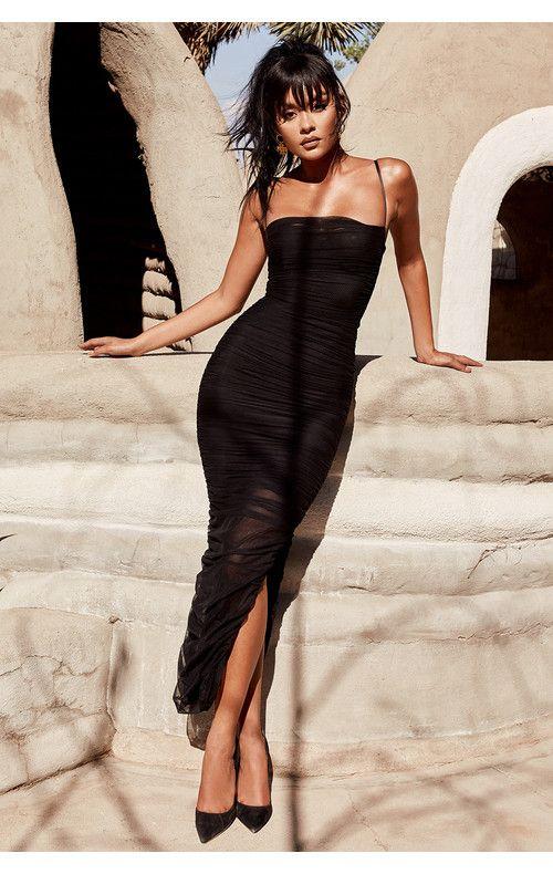 779240e65b05 Clothing : Max Dresses : 'Fornarina' Black Organza Mesh Maxi Dress ...