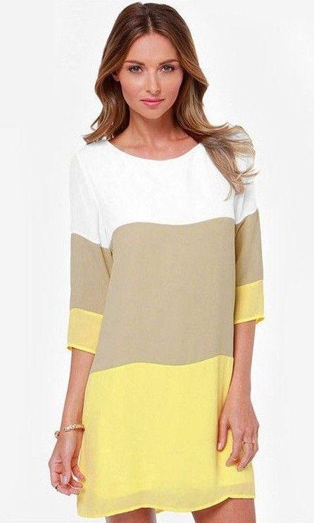 Compre online Vestido Solto Três Cores por R$79,90. Faça seu pedido e pague-o online.