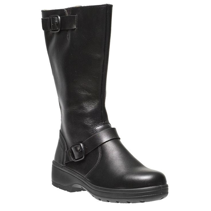 Ladies High Leg Premium Black Leather S3 SRC Delia Safety Work Boots