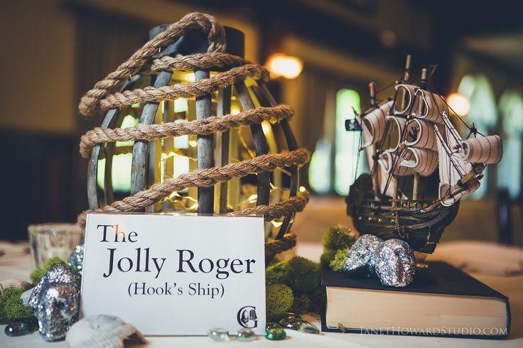 Peter Pan Themed Wedding Table Centerpiece. So creative!