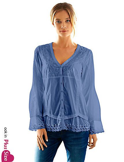 Koop B.C. Best Connections by heine - Kanten blouse wit in de Heine online-shop