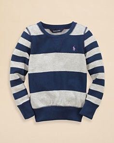 Ralph Lauren Childrenswear Girls' Fleece Crewneck Tee - Sizes 2-6X