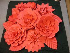 Papel vermelho da flor de parede 4 pés x 4 pés Extra Large Flores de Papel Decoração Foto de Fundo Dia dos Namorados Prop Decor