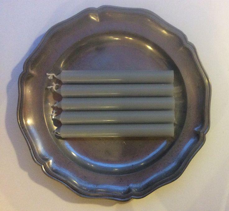tinavadin halkaisija 31.5cm, kynttilät 'gris perle' helmen harmaa