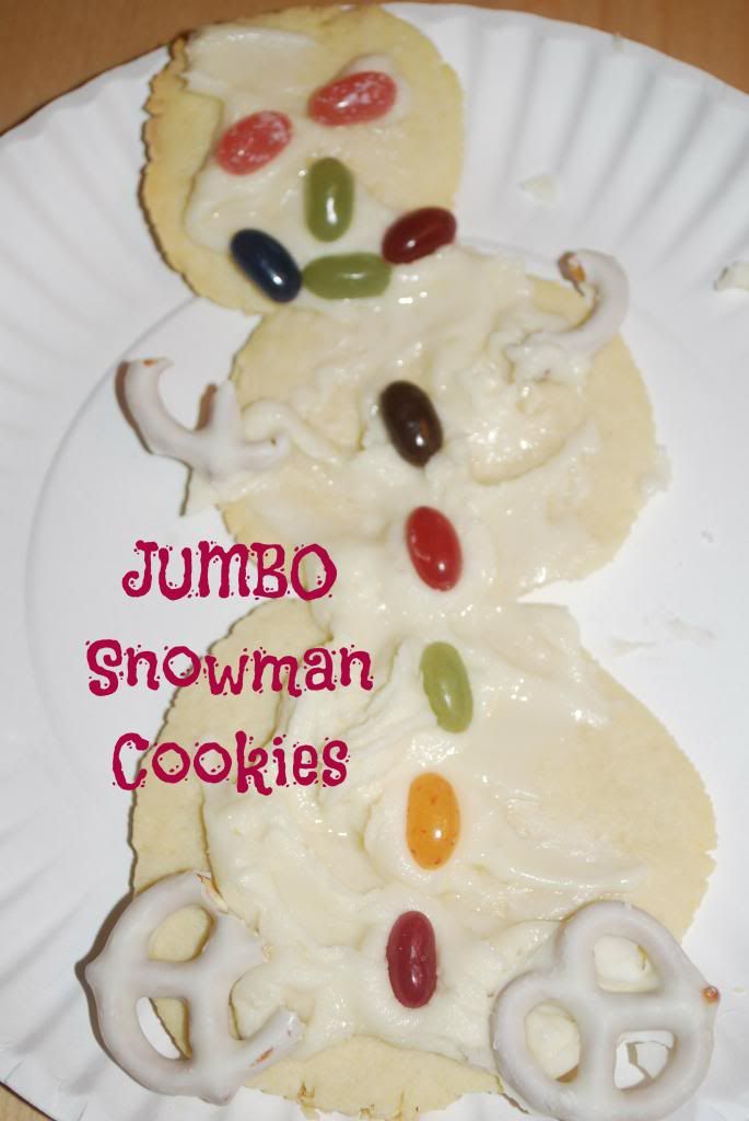 Jumbo Snowman Cookies.  Almost too cute to eat...almost!  this site!  25 Winter Activities for Kids in 25 Days!