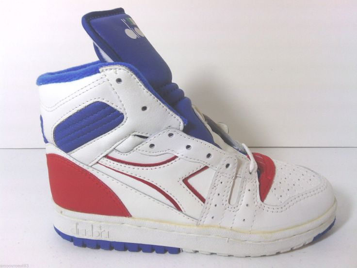 VTG 80s Diadora Slam Jr. OG Deadstock Hi-Tops Basketball Shoes adidas pony  3.5
