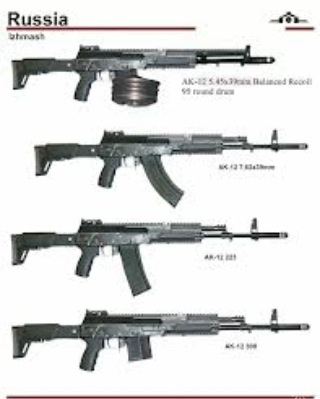 AK-12 with different clips