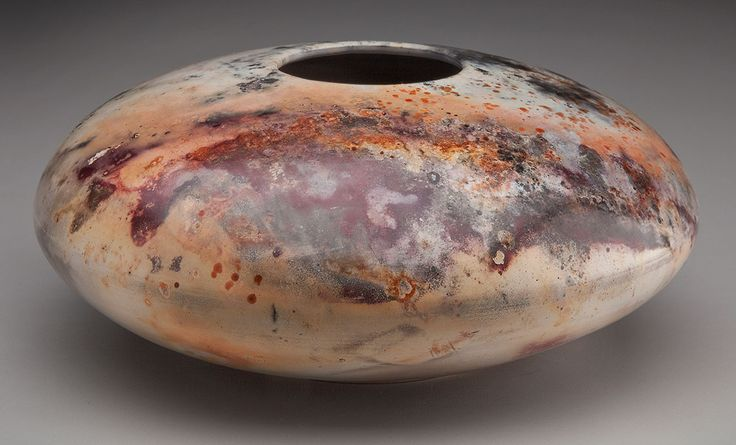 Pit fired pottery -  White earthenware clay, burnished, terra sigillata. by Alex Mandli