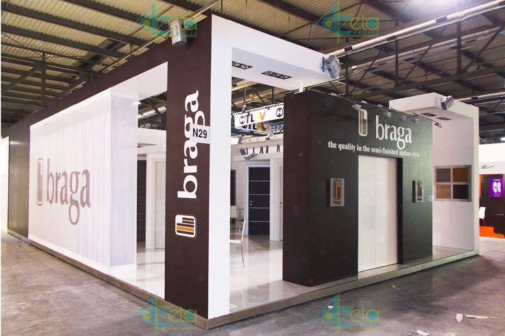 Stand dell'azienda Braga realizzato da Azeta Design in occasione della fiera Made Expo nella città di Milano (IT).