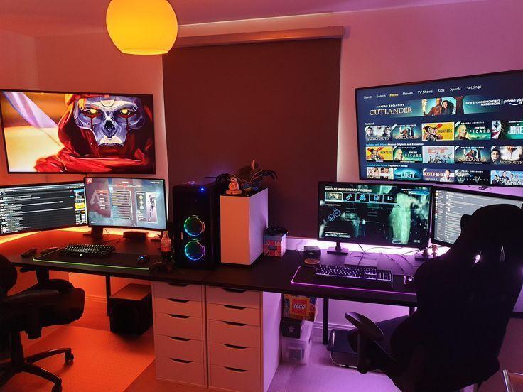 Gadgets Couple Gaming Setup Couple Gaming Setup Gaming Setup Room Pc Set Up Gaming Setup G In 2020 Gaming Room Setup Gaming Setup Ps4 Living Room Gaming Setup
