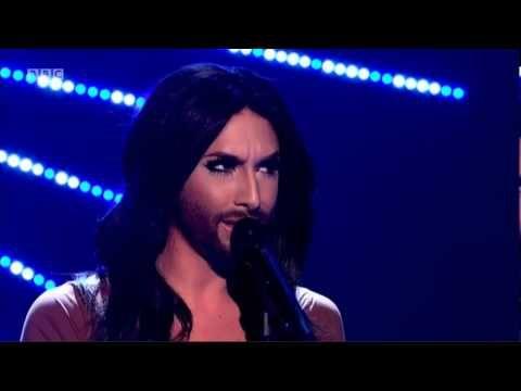 "Conchita Wurst sings ""Rise Like a Phoenix"" on Graham Norton Show"
