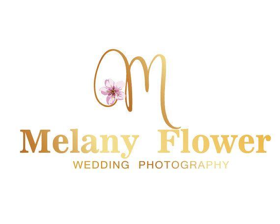Floral Branding Kit Gold Custom Logo Design Logo by LoveArtsStudio